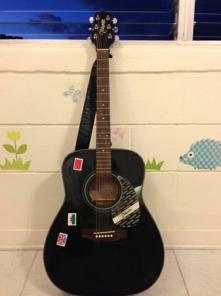 Takamine G-241 with case, sound hole pickup, capo & tuner